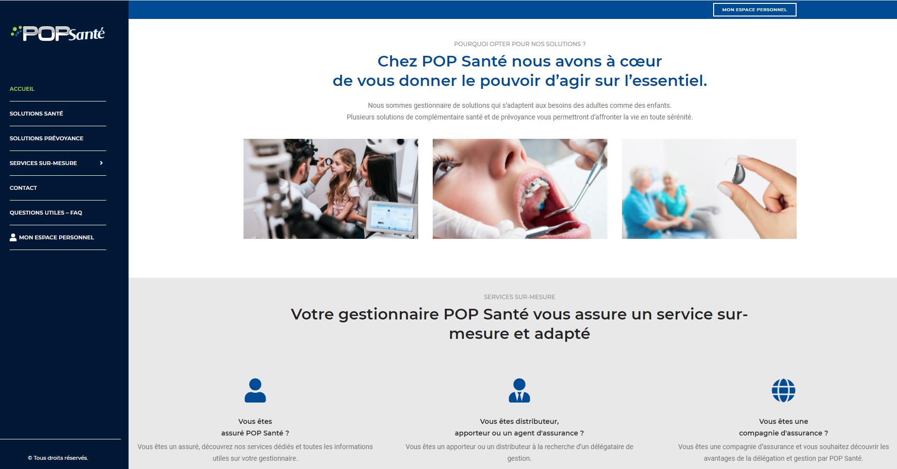 pop santé site internet
